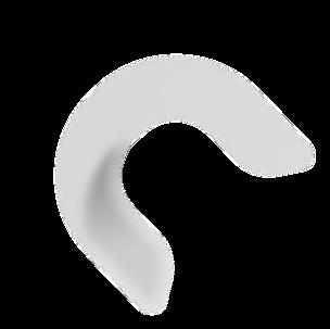 Large loating letter C