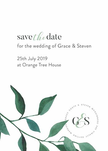 Shot of wedding stationery print design