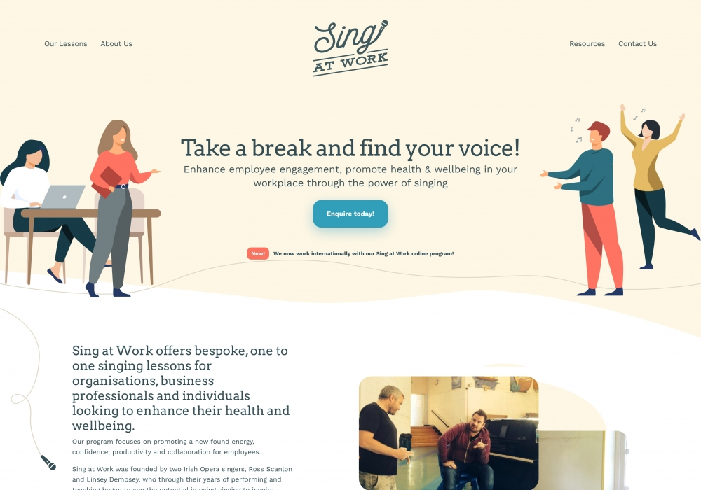 A preview image of Sing at Work