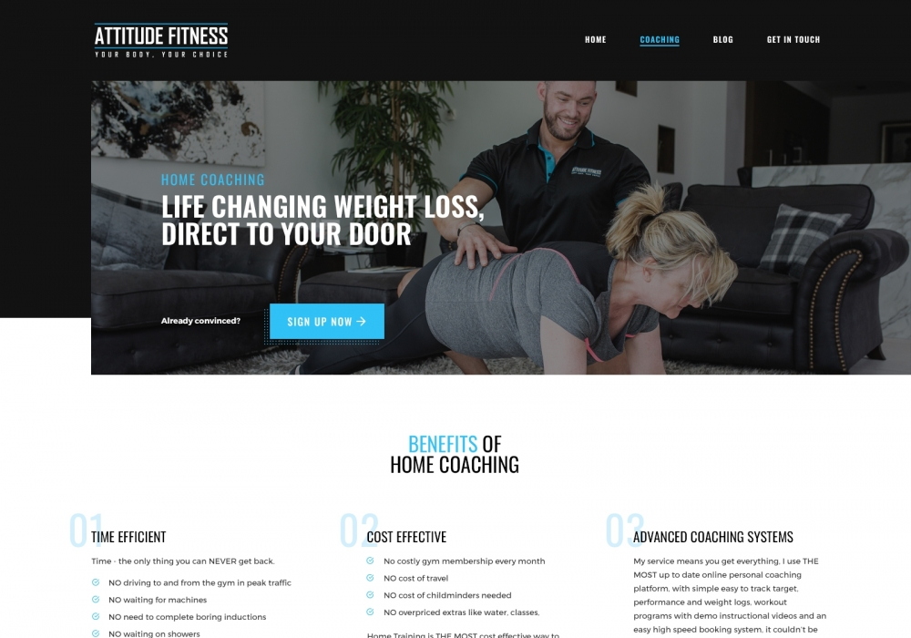 A preview image of Attitude Fitness